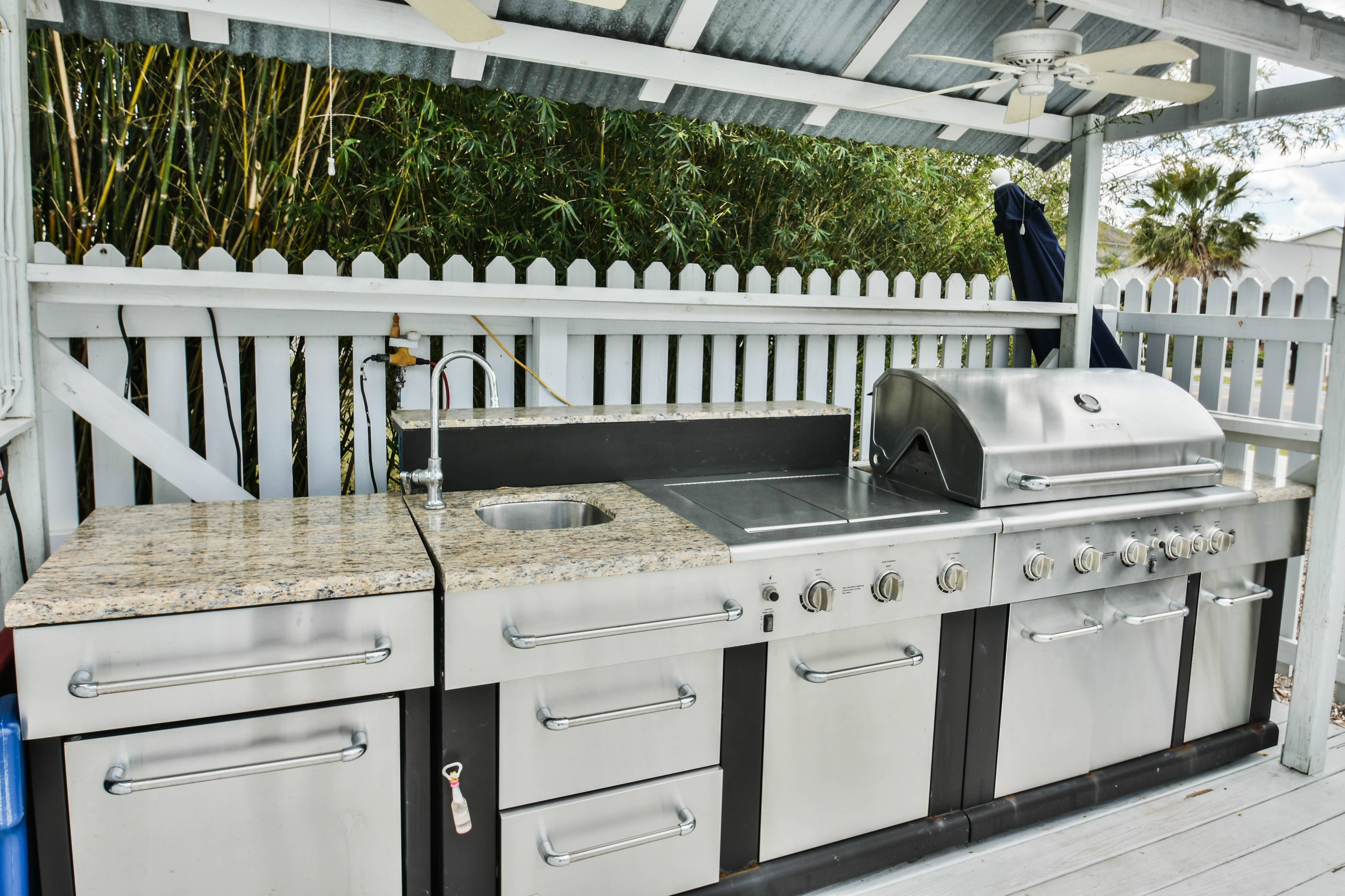 DEJA BLUE Private Outdoor Kitchen