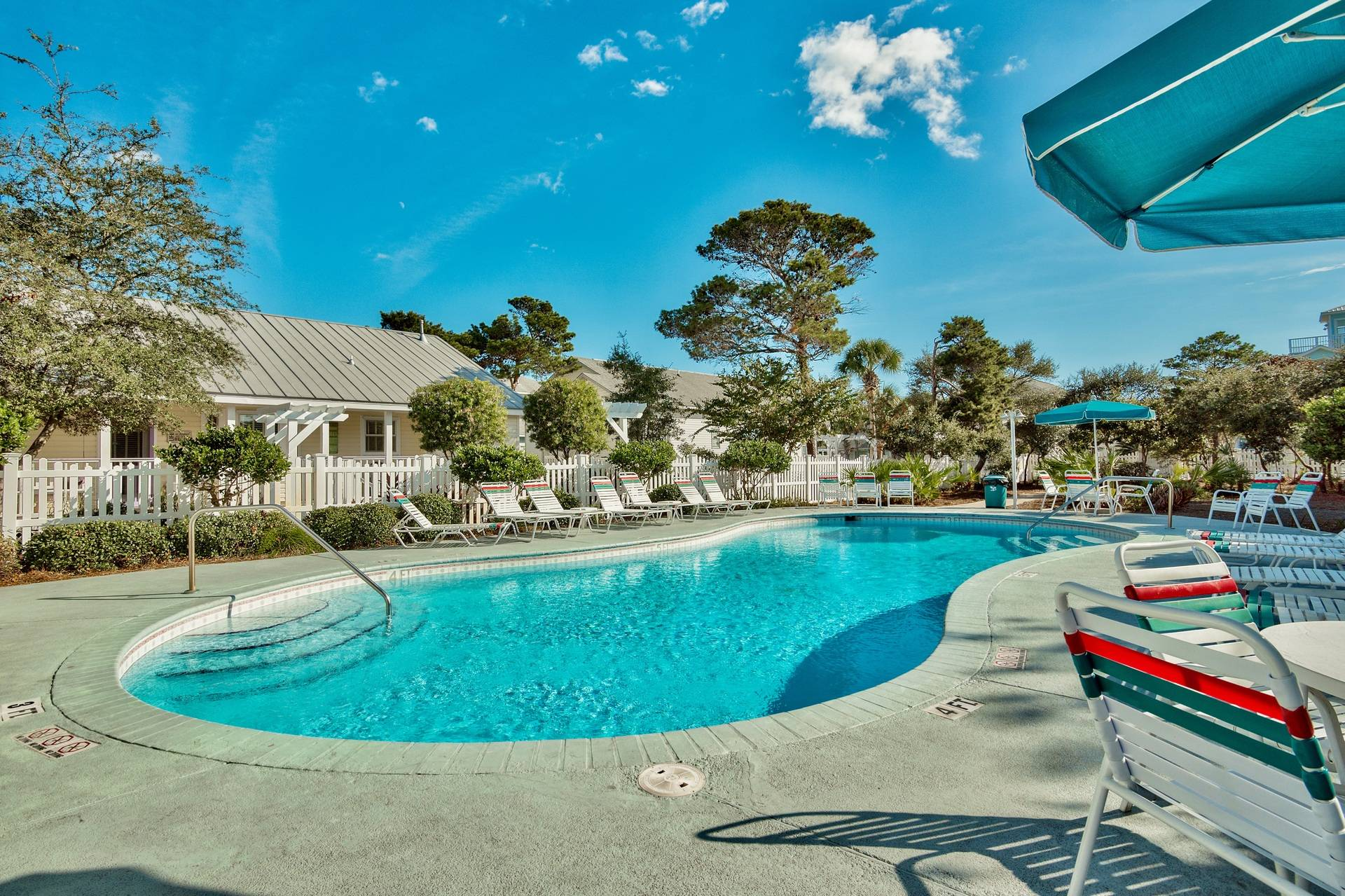 Crystal Beach Cottages Community Pool for Guests to use